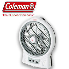"COLEMAN 8"" 240 & 12 VOLT & RECHARGEABLE PORTABLE ROTATING FAN CAMP CAMPING"
