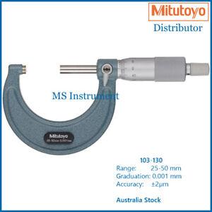 Genuine Mitutoyo 103-130 Micrometer 25-50mm with Vernier 0.001mm Australia Stock