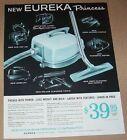 1962 print ad - Eureka Princess vacuum cleaners Williams Bloomington Illinois photo