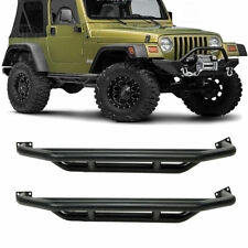 For 1986-2006 Jeep TJ/YJ Black Textured Armor Running Boards Nerf Bars Side Step