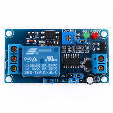 1pc 12V DC Delay Relay Turn-off Electric Switch Module w/ Timer Safety Blue