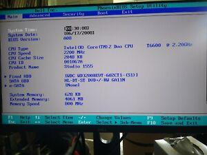 Dell Studio 1555 (PP39L) Intel Core 2 Duo: working for parts or refurbishment
