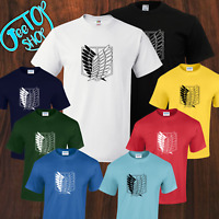 Attack On Titan AOT Unisex Adult/kids Tshirt Anime/Manga 8 Colors,Sizes 5yrs-5XL