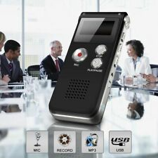 More details for 8/16/32gb digital rechargeable sound voice recorder dictaphone mp3 player record