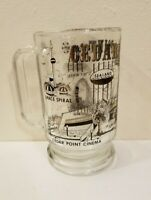 Vintage Cedar Point Souvenir Clear Glass Mug