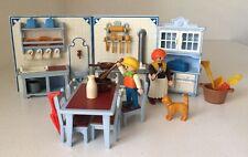 Playmobil 5322 Victorian Mansion Kitchen Set Maid Boy Cat