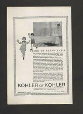 1924 Kohler Of Kohler Modern Bathroom Plumbing Ware Fixtures Vtg Print Ad C24