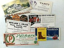 Lot of 7 Vintage Blotters-Advertising-Writing equipment