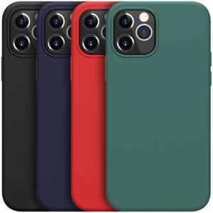 Liquid Silicone Case For iPhone 13 12 Pro Max 11 XR 7 8 12 Mini SE 2 Cover
