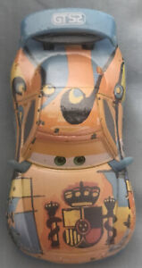 Disney Pixar Cars Ice Racer Miguel Camino Mattel Metal And Plastic Toy Car Used