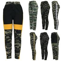 New Ladies Cargo Camuflage Army Stretch Casual Trousers Slim Fit Sport Jogger