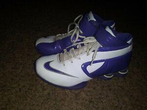 Nike Zoom Air Shox women's Purple White Basketball Sneaker size 9 Preworn