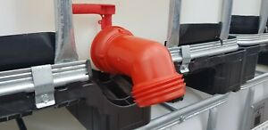 100 mm x 8 mm / 4 inch IBC Spout Outlet Tap Fitting for water, oil, fuel,