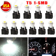 10 X White T5 Twist Socket Instrument Panel Led Cer Dash Light Bulb 17 73 74