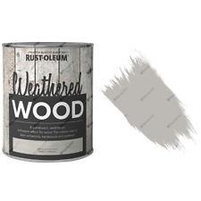 x1 Rust-Oleum Weathered Wood Rustic Translucent Paint 750ml Ash Grey Matt