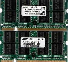 2GB (2x 1GB Kit) HP-Compaq Evo/Presario PC2100/PC2700 DDR/DDR1 Laptop RAM Memory