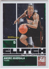2009-10 DONRUSS ELITE CLUTCH PERFORMERS GREEN:ANDRE IGUODALA #23 SIXERS/WARRIORS