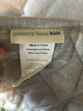 New listing Pottery Barn Kids Gray Belgian Linen Flax Crib Bumper New Without Tags
