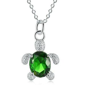 Jewellery Top Grade Zircon Crystal Zircon Chain Turtle Pendant Necklace