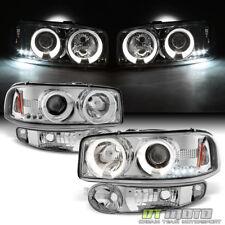2001-2006 GMC Sierra Yukon Denali LED Halo Headlights+Bumper Signal Lights Lamps