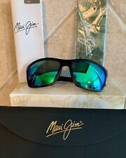 Maui Jim 804-02 'MAKOA' Matte Black w/ Maui Green Polarized Lenses/💯 Authentic.