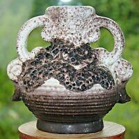 Vase German pottery 60er 60s 70er 70s Fat Lava Keramik Dümler & Breiden H:14,5cm
