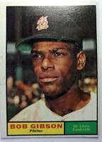 1961 61 Topps Bob Gibson #211, St. Louis Cardinals, HOF