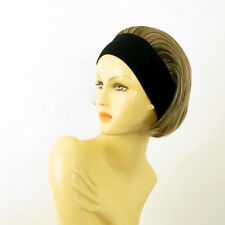headband wig short blond copper wick clear and chocolate ref: AMANDA 15613h4