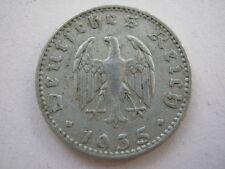 Germany 1935-J 50 Reichspfennig, VF.