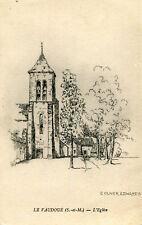 Carte LE VAUDOUE L'église Illustré par C Oliver Edwards