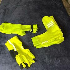 Rapha Handschuhe + Überschuhe + Socken - Gr. L / XL - Gelb Schwarz reflektierend