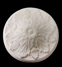 Plaster Ceiling Rose, Flower and Leaf CP32, 590mm wide, Free Delivery.