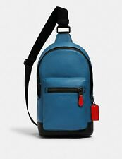 COACH WEST PACK (COACH 1990) QB/BLUE JAY MIAMI RED $350
