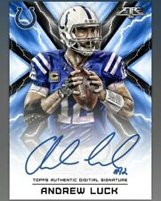 DIGITAL CARD 2017 Topps Huddle Fire Andrew Luck Auto Signature DIGITAL CARD
