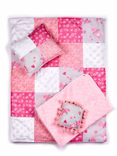 Quilt - 4 Piece 18 inch Doll Bedding Set - Fits American Girl Doll