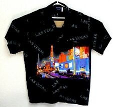 Pacific and CO Mens Black Las Vegas Strip Button Down Shirt Large EUC