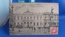 cpa espagne espana zaragoza plaza de la constitucion  2d