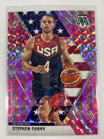 2019 - 20 Panini Mosaic Steph Curry Pink Camo Prizm #260 Team USA Olympics