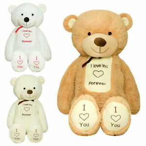Giant Teddy Bear TEDBI 140/160/200cm Large Big Soft Plush Toy With Embroidery