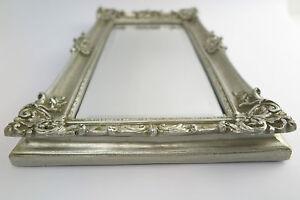 Mirror Silver 49 x 29 Baroque Mirror Magnificent Frame Art Nouveau