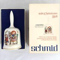Schmid 1976 Limited Edition Christmas Bell Sister Berta Hummel Collector Series