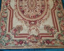 "Needlepoint French Aubusson Style Hand Knotted Wool Rug 5'9"" x 3'10"""