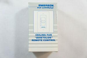Emerson Ceiling Fan QuietSlide 1.25 Amp 4 Speed Remote Control SW46LA, Almond