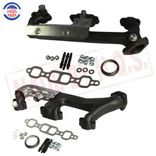 Exhaust Manifold W/ Heat Shield Set For Chevrolet GMC Pickup Truck 5.7L