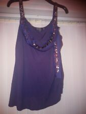 Stunning Coast Navy Embellished Jewel Party Wedding Holiday Top Size 12