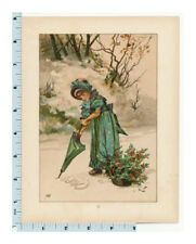 Christmas Book Plate |Mary Ellen Edwards Illustration | 1881 Told in Twilight
