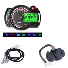 15000rpm Digital LCD Motorcycle Bike Speedometer Odometer Tachometer km/h mph