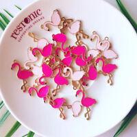 FT- 5x Flamingo Bird Animal Charms Pendant for DIY Earring Necklace Jewelry Maki