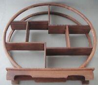 CHINESE FOLK ART handwork Decorative wood carvings shelf China characteristics N