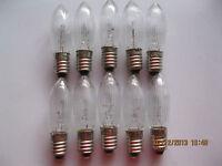 10x 34 Volt 3WATT, E10 Spitzkerze, Riffelkerze, Kleinkerze, Topkerze Schwibbogen